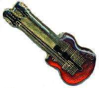 12 Pins - DOUBLE NECK GUITAR , music lapel pin # 172