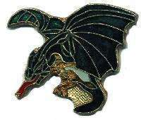 12 Pins - DRAGON , hat tac lapel pin #4727