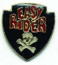 12 Pins - EASY RIDER w/ Skull and Crossbones , pin 4736 - $9.00