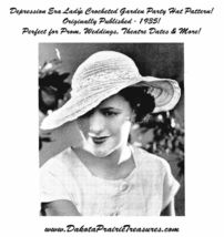 1935 Prohibition Crochet Hat Pattern Depression Ladys Brim DIY Milliner ... - $4.99