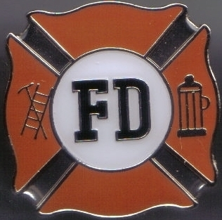12 Pins - FIRE DEPARTMENT FIGHTER SHIELD FD PIN 4971