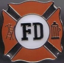 12 Pins - Fire Department Fighter Shield Fd Pin 4971 - $9.00