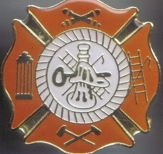 12 Pins - FIRE DEPARTMENT FIGHTER SHIELD PIN 4981