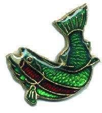 12 Pins - FISH , fishing fisherman hat lapel pin #1662 Bonanza