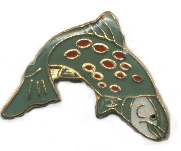 12 Pins - FISH , fishing fisherman hat lapel pin #1666 Bonanza