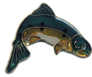 12 Pins - FISH , fishing fisherman hat lapel pin #4695