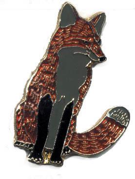 12 Pins - FOX , hat tac lapel pin #4793 Bonanza