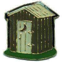 12 Pins - HILLBILLY OUTHOUSE , out house lapel pin 4572