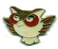 12 Pins - HOOT OWL , hat tac lapel pin #38