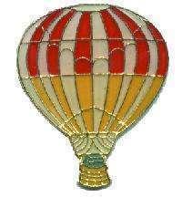 12 Pins - HOT AIR BALLOON , balloons hat lapel pin 4651