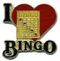 12 Pins - I LOVE BINGO , player hat lapel pin #1987 - $9.00