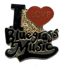 12 Pins - I Love Bluegrass Music , Blue Grass Pin #4657 - $9.00