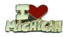 12 Pins - I LOVE MICHIGAN , state hat lapel pin #4688 - $9.00