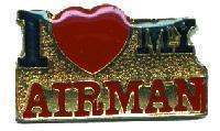12 Pins - I LOVE MY AIRMAN air force hat lapel pin 4120