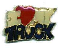 12 Pins - I LOVE MY TRUCK , hat tac lapel pin #684