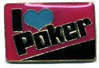 12 Pins - I LOVE POKER , gambling hat lapel pin #4822