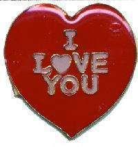 12 Pins - I LOVE YOU , heart u hat tac lapel pin #4779 - $9.00