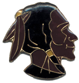 12 Pins - INDIAN , native american hat lapel pin #349