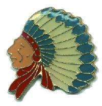 12 Pins - INDIAN CHIEF , native american lapel pin #90