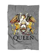 British Rock Band Queen Blanket, Queen Band Logo Blanket, Rock Band Blanket - $59.99