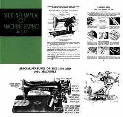 1939 Singer Student Featherlight WWII Swing Era Sewing Machine Manual Guide Text