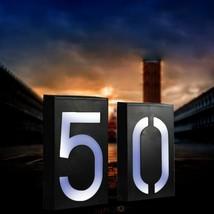 Solar Power Led Light Sign House Door Address Plaque Number Digits Plat ... - $20.99