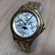 Vintage Armitron Men Lady Moon Phase Triple Date Quartz Watch Hours~New ... - $37.25