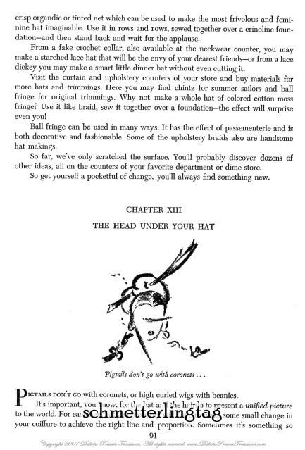 1944 Millinery Book GARNELL WWII Swing Era Hat Making Pattern Milliner DIYLesson