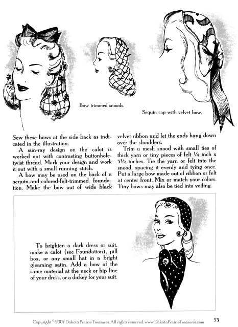 1944 WWII Swing Era Book How to Make & Trim Hats (Millinery Draft Patterns) DIY