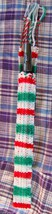 Tinwhistle Carrying Gigbag/Handwoven/Christmas Colors/Case Only - $13.55