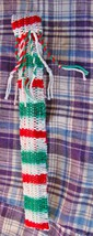 Tinwhistle Carrying Gigbag/Handwoven/Christmas Colors/Case Only image 2
