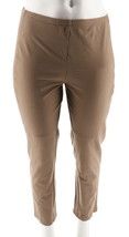 Women with Control Petite Slim Leg Ankle Pants Front Seam Stone PM NEW A... - $24.73
