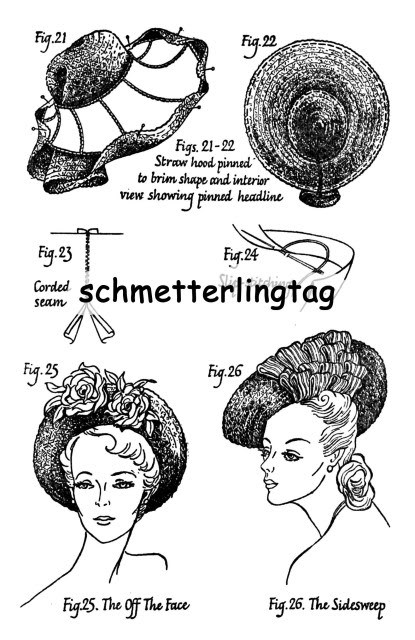 1949 Millinery Book Make Fashionable 40s Hat Hats Illustrated DIY Milliner 1940s