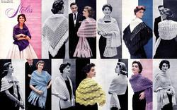 1950s Retro Stoles Shawls Scarves Book Glamorous Glam Patterns Jackie O Styles