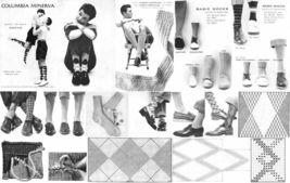 1955 50s Sock Knitting Book Argyle Stocking Patterns Atomic DIY Reenactment - $9.99