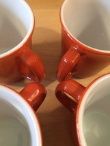 Vintage 60s set of 4 Corelle by Pyrex Burnt Orange mugs (discontinued and rare) image 5