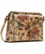 Patricia Nash Purse Beige French Tapestry Avellino Crossbody Leather - $117.81