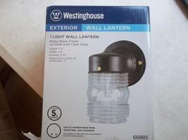 Westinghouse 66885 One-Light Jelly Jar Exterior Wall Lantern, Matte Black - $12.89