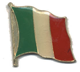 12 Pins - ITALIAN FLAG , italy hat tac lapel pin #570