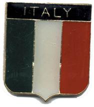 12 Pins - Italy Flag Shield , Italian Lapel Pin #4751 - $9.00
