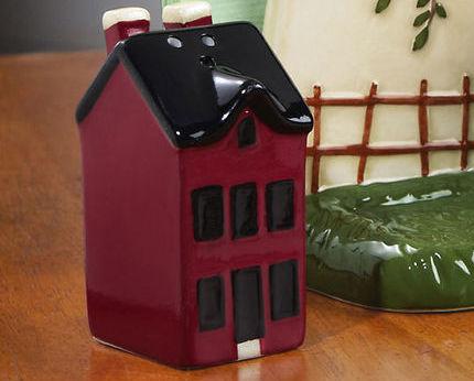 Country Napkin Holder & Salt And Pepper Shaker Set