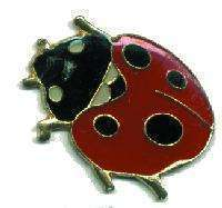 12 Pins - LADYBUG , lady bug hat tac lapel pin #52 Bonanza