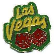 12 Pins - LAS VEGAS DICE , gambler hat lapel pin #4690 - $9.00