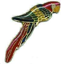12 Pins - PARROT , parrothead bird hat lapel pin #4112