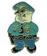 12 Pins - PIG DRESSED AS A COP , police lapel pin #4652 - $9.00