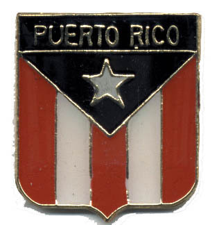 12 Pins - PUERTO RICO FLAG SHIELD , lapel pin #4750