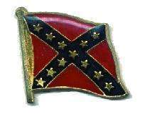 12 Pins - REBEL FLAG WAVING , confederate hat pin #568