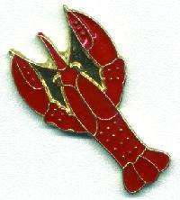 12 Pins - RED LOBSTER , hat tac lapel pin #1815