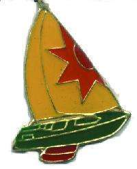 12 Pins - SAILBOAT , sail boat sailing lapel pin #1125