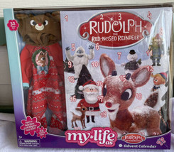 "My Life As RUDOLPH ADVENT CALENDAR Reindeer Outfit For 18"" Doll CHRISTMA... - $41.99"